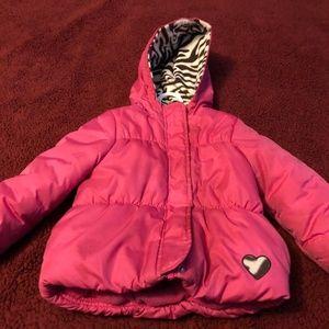 Carter's girls pink winter coat size 4T